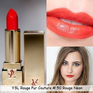 YSL Rouge Pur Couture Lipstick #50 Rouge Neon